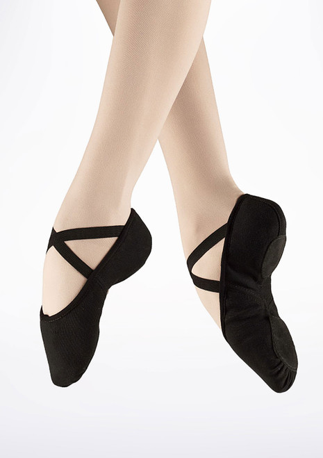 Bloch S0277L Split Sole Canvas Ballet Shoe Black. [Black]