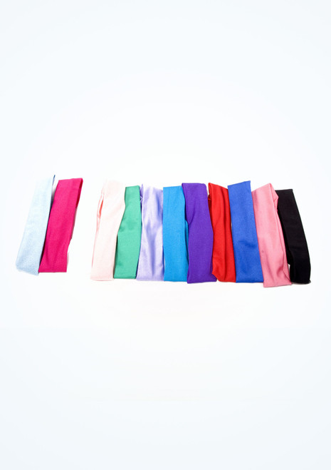 Tappers & Pointers Shiny Lycra Headband Red front. [Red]