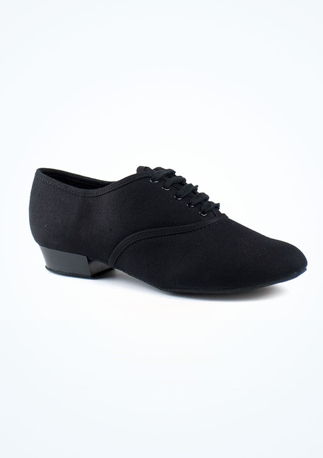 """Roch Valley Boys Canvas Oxford Character Shoe 1 Black. [Black]"""""""