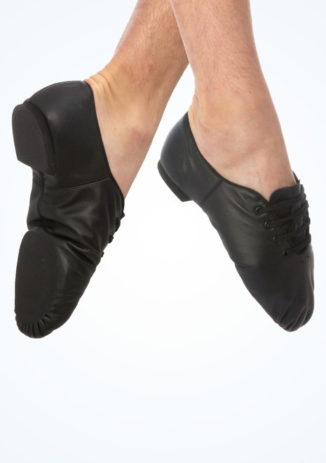 Capezio Mens Split Sole Jazz Shoe Black. [Black]