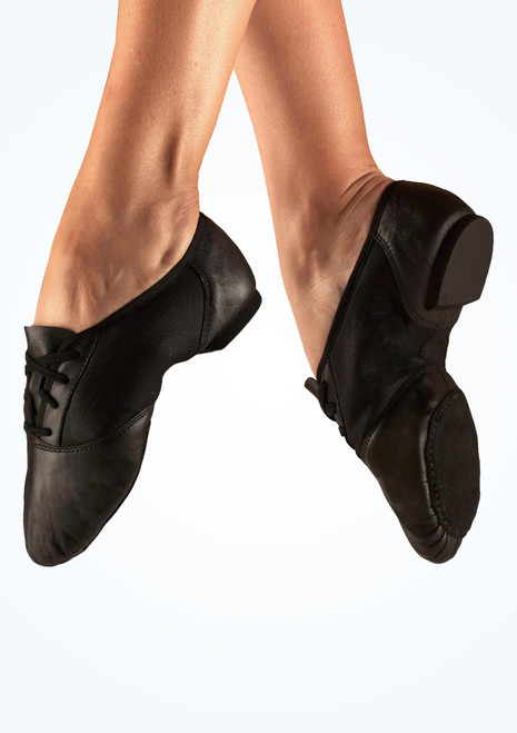 Capezio Suede Split Sole Jazz Shoe Black. [Black]