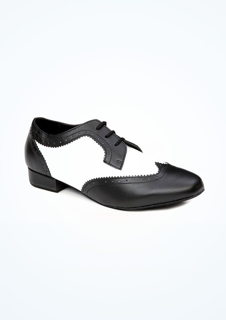 Roch Valley Ritz Two Tone Ballroom Shoe 1.2 Black-White. [Black-White]""