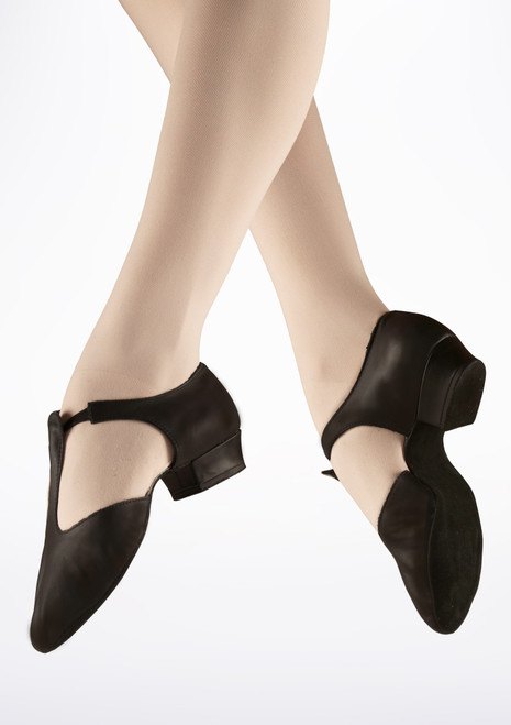 Bloch Greek Sandal Ballet Shoe Black. [Black]
