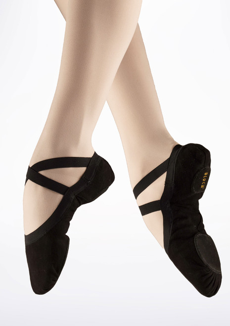 Bloch Pro Elastic S0621L Split Sole Ballet Shoe Black. [Black]