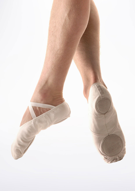 So Danca Split Sole Canvas Men's Ballet Shoe White. [White]