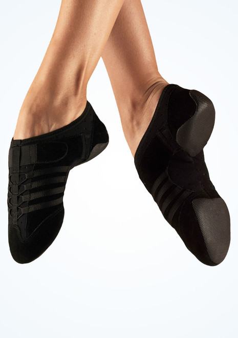 Capezio Jag Split Sole Sneaker Jazz Shoe Black. [Black]