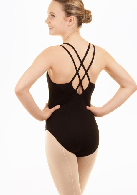 Capezio Kids Double Strap Leotard Black. [Black]
