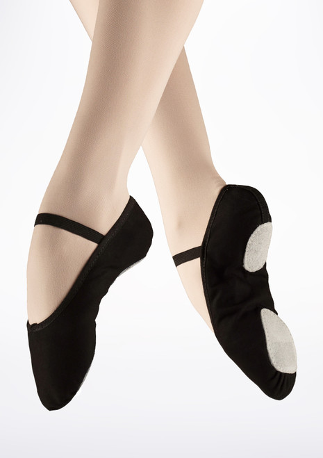 So Danca Split Sole Canvas Ballet Shoe Black. [Black]