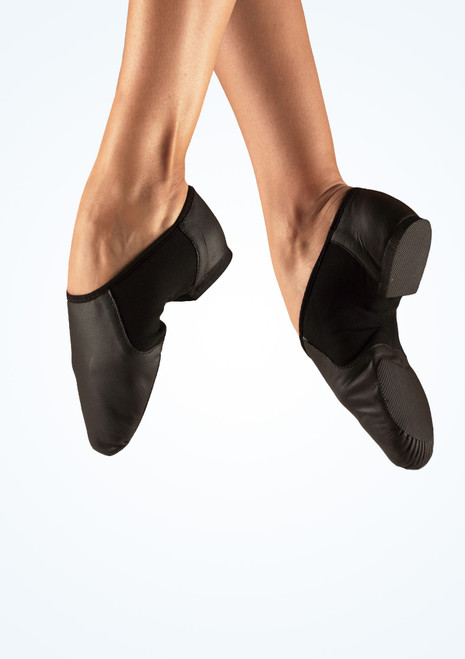 Bloch Neo-Flex Slip On Split Sole Jazz Shoe Black. [Black]