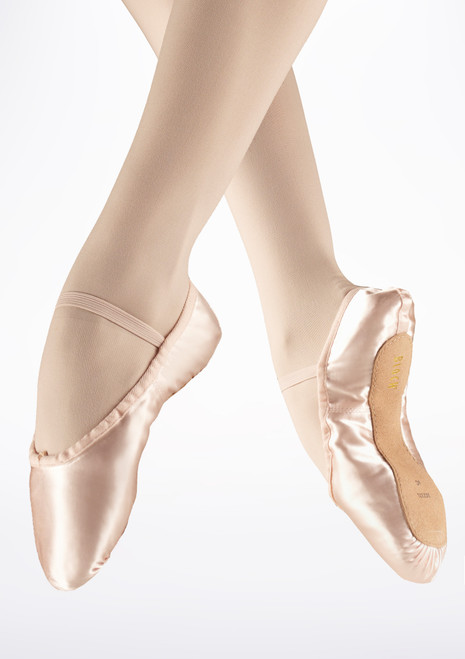 Bloch Debut Full Sole Satin Ballet Shoe Pink. [Pink]