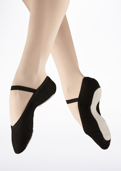 So Danca Full Sole Canvas Ballet Shoe Black. [Black]