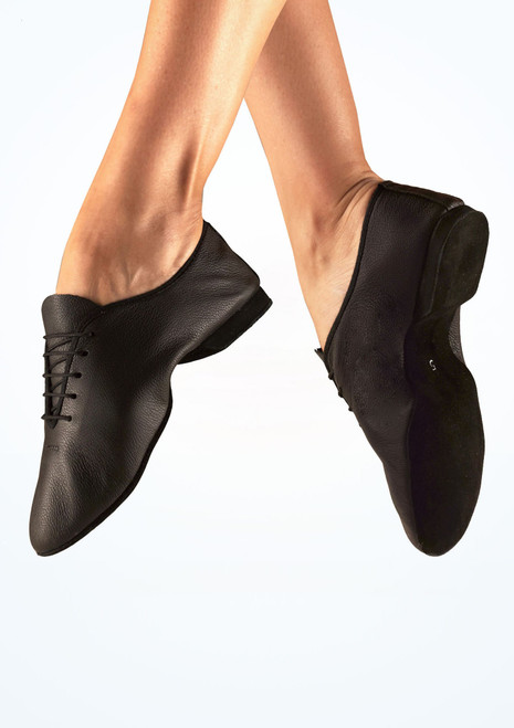 Freed Reflex Suede Full Sole Jazz Shoe Black. [Black]