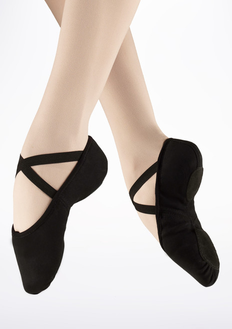 Bloch Zenith Split Sole Ballet Shoe Black. [Black]
