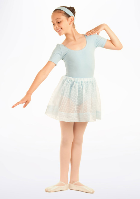 Tappers & Pointers Spotted Voile Dance Skirt Blue. [Blue]