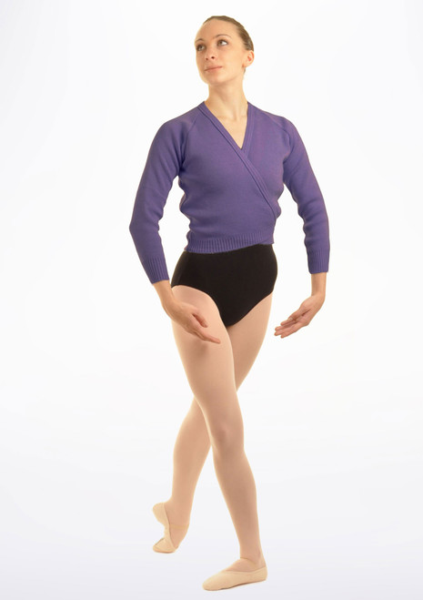 Tappers & Pointers Knit Ballet Wrap Adults Purple. [Purple]