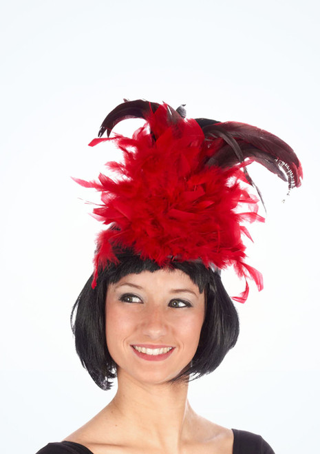 Charleston Feather Headband Red. [Red]