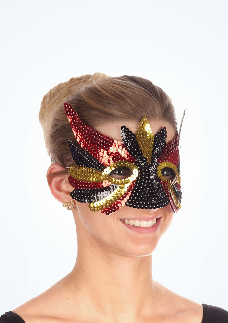 Sequin Mix Eyemask Black.