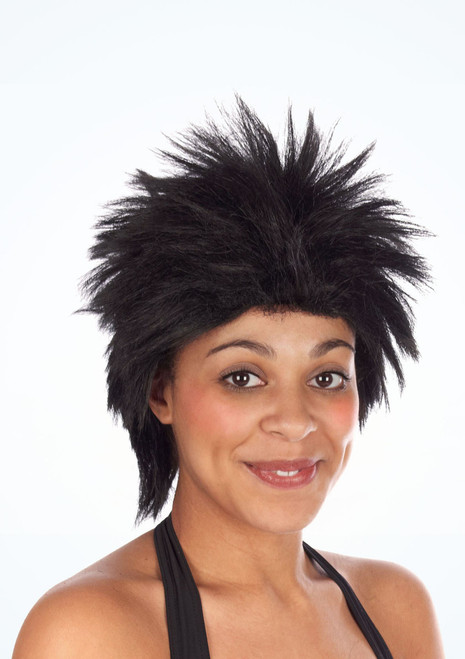 80s Rock Idol Wig Black. [Black]