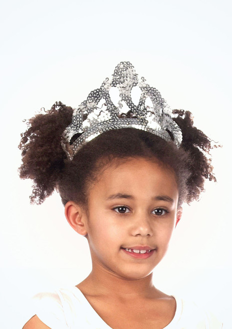 Large Sequin Tiara Silver. [Silver]