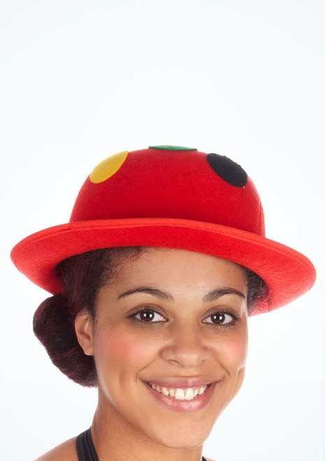 Spot Clown Bowler Hat Red. [Red]