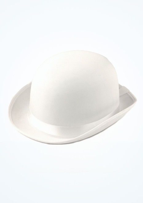 Satin Look Bowler Hat White. [White]