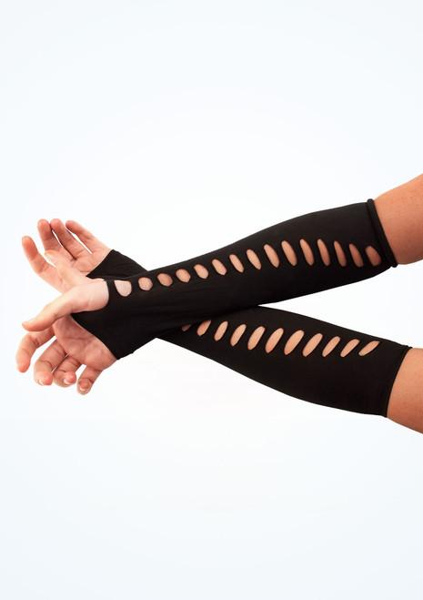 Ladder Style Gloves Black. [Black]