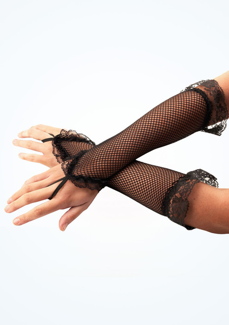 Lace Fishnet Gloves Black [Black]