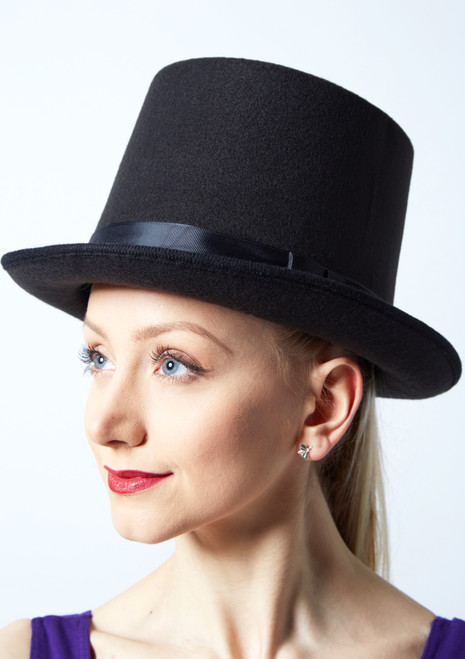 Wool Felt Top Hat Black main image. [Black]