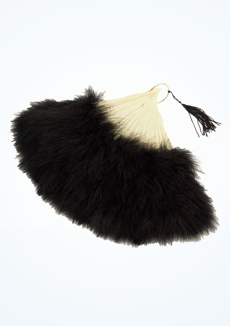 Feather Fan Black. [Black]