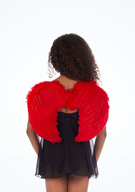 Mini Feather Wings Red.