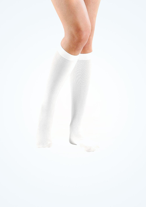 White Knee Socks. [White]
