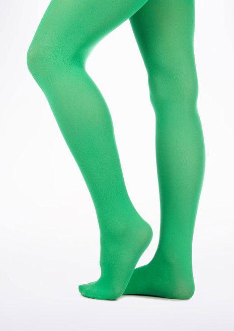 Child Colour Tights Green [Green]