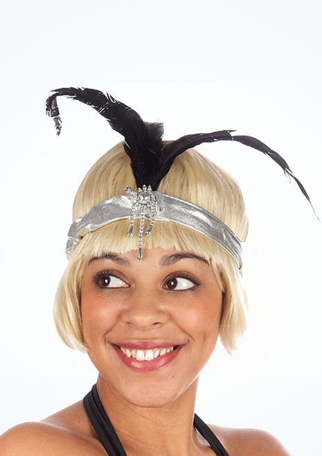 Feather Flapper Headband Silver. [Silver]