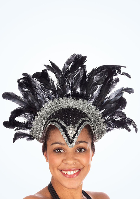 Jewel Feather Helmet Black. [Black]