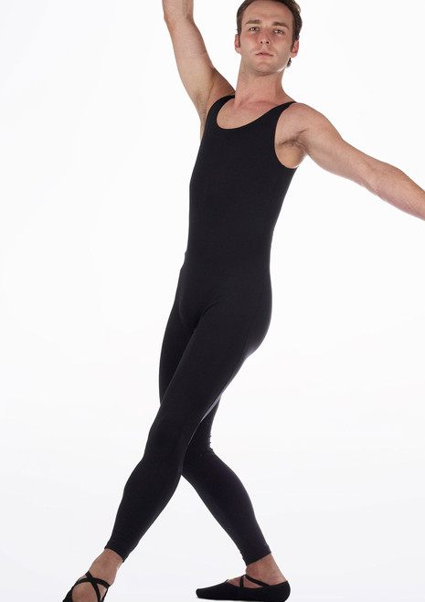 Move Men's Oliver Unitard Black front. [Black]