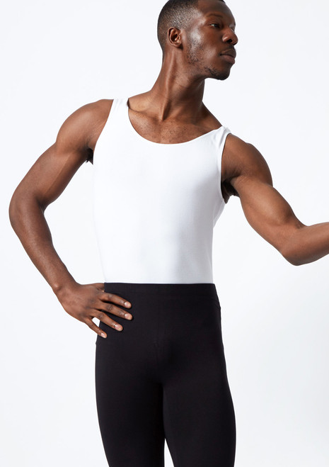 Move Men's Joshua Leotard Black front. [White]