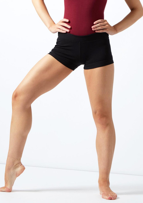 Move Skye Dance Shorts Black front. [Black]