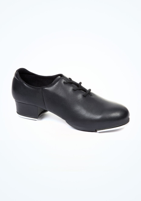 Move Oxford Split Sole Tap Shoe Black. [Black]