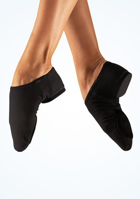 So Danca Canvas Split Sole Jazz Shoe Black. [Black]