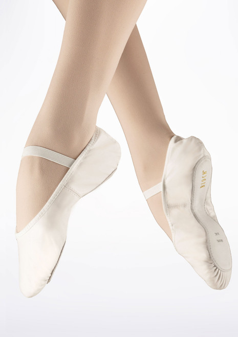 Bloch Arise S0209L Full Sole Leather Ballet Shoe White. [White]