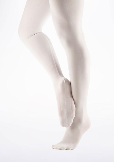 Debut Seamed Ballet Tights White. [White]
