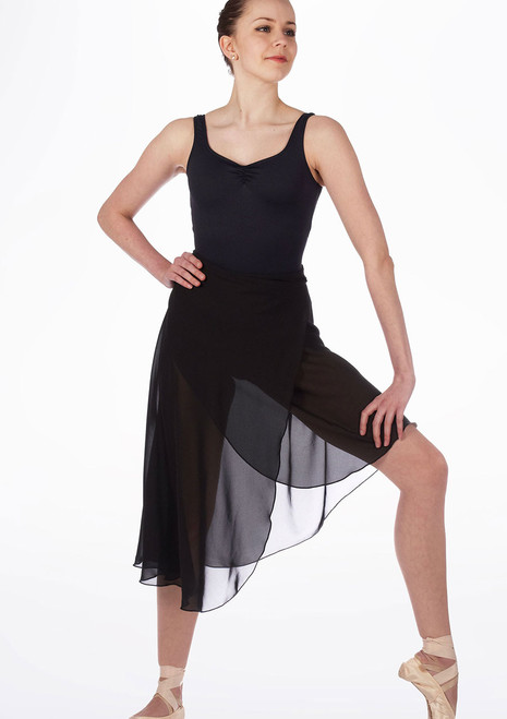 So Danca Mid Length Dance Skirt Black. [Black]