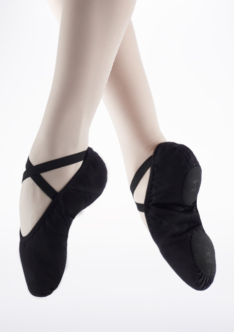 Repetto Pro Soft Split Sole Ballet Shoe Black. [Black]