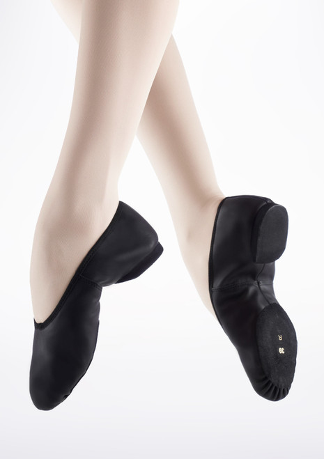 Merlet Blues Ballerina Split Sole Jazz Shoe Black. [Black]