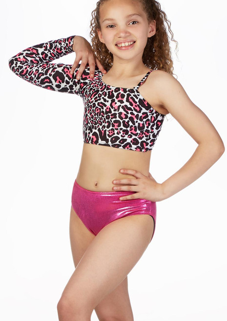 Alegra Girls Patterned Echo Dance Top front. [Patterned]