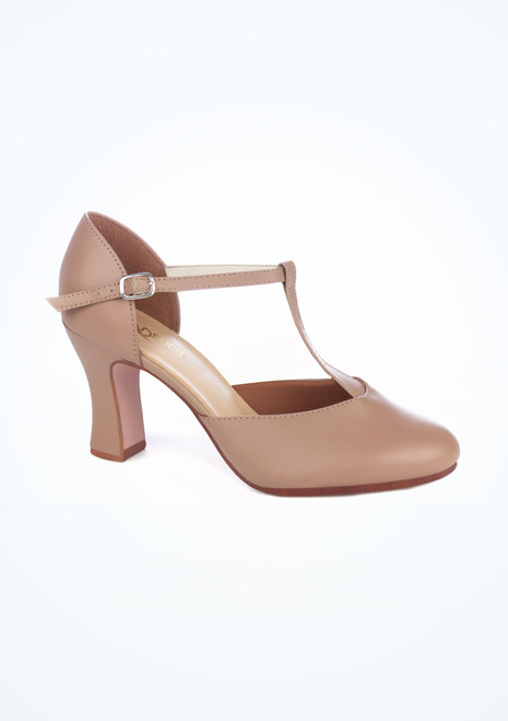 So Danca T strap Character Shoe 3  Tan. [Tan]""