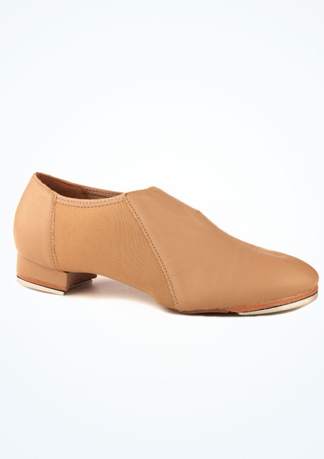 So Danca Slip On Tap Shoe Caramel Brown. [Brown]