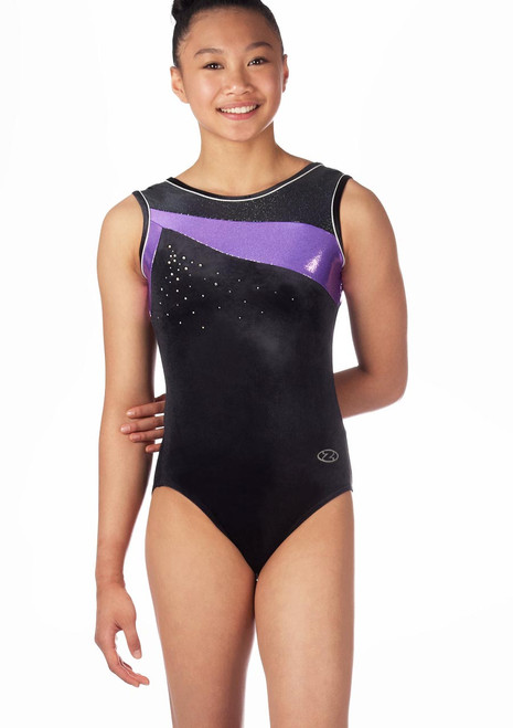 Zone Icon Sleeveless Gymnastics Leotard Purple. [Purple]