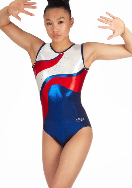 Zone Merit Sleeveless Gymnastics Leotard Red. [Red]