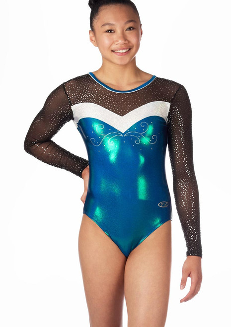 Zone Ultra Long Sleeve Gymnastics Leotard Blue. [Blue]